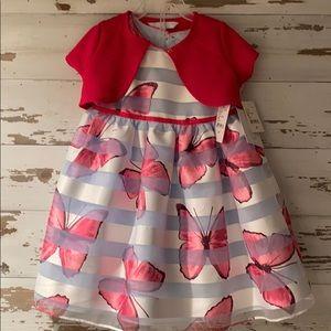 Brand new 2-piece butterfly dress set. 4T.